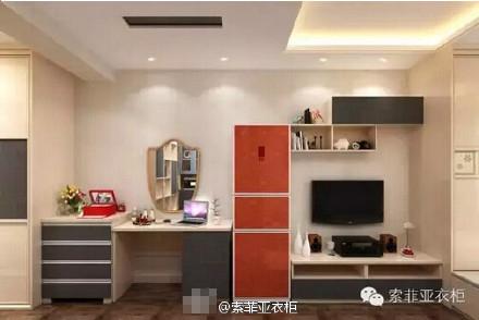 衣柜   索菲亚衣柜加盟这次为单身女士设计,你的小公寓梳妆台搭配电视